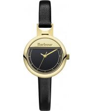 Barbour BB005GDBK Ladies Harton Black Leather Strap Watch