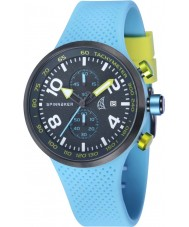 Spinnaker SP-5029-02 Mens Dynamic Light Blue Integrated Silicone Strap Watch