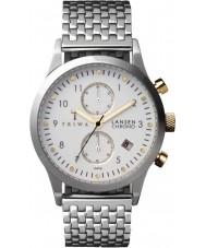 Triwa LCST106-BR021212 Ivory Lansen Silver Steel Bracelet Chrono Watch