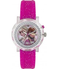 Frozen FZN3565D Girls Anna and Elsa Flashing Watch with Pink Glitter Band