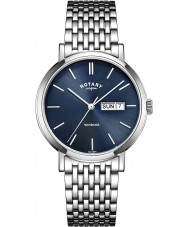 Rotary GB05300-05 Mens Timepieces Windsor Silver Tone Steel Watch