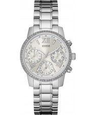 Guess W0623L1 Ladies Mini Sunrise Silver Steel Bracelet Watch