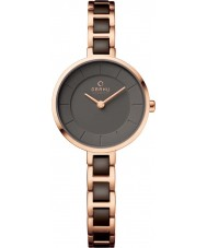 Obaku V183LXVNSV Ladies Two Tone Rose Gold Plated Watch