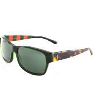 Polo Ralph Lauren PH4083 57 Transparent Green 544271 Sunglasses