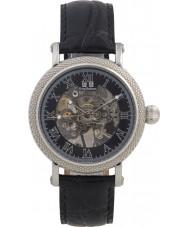 Krug Baümen 60111DM Mens Prestige Black Leather Strap Watch