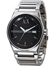 Armani Exchange AX2015 Mens Black Silver Dress Watch
