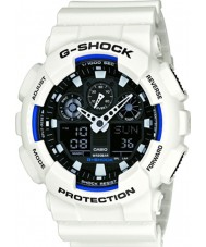 Casio GA-100B-7AER Mens G-Shock World Time White Resin Strap Watch