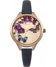 Oasis B1541 Ladies Navy Leather Strap Watch