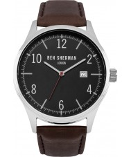 Ben Sherman WB053BBR Mens Brown Leather Strap Watch