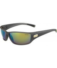 Bolle Python Matt Smoke Green Polarized Brown Emerald Sunglasses