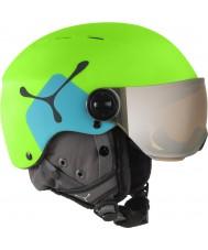 Cebe CBH210 Fireball Jr Lime Blue Ski Helmet - 49-54cm