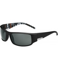 Bolle King Matt Black Orange Zebra Polarized TNS Sunglasses
