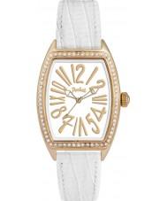 Pocket PK2038 Ladies Tonneau Crystal Medio White Watch