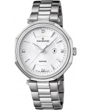 Candino C4523-2 Ladies White and Silver Steel Bracelet Watch