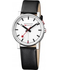 Mondaine A468-30352-11SBB Evo Big Black Leather Strap Watch