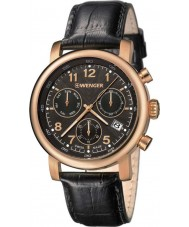 Wenger 01-1043-107 Mens Urban Classic Black Leather Chronograph Watch