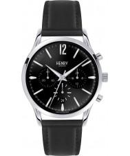 Henry London HL41-CS-0023 Mens Edgware Black Leather Chronograph Watch