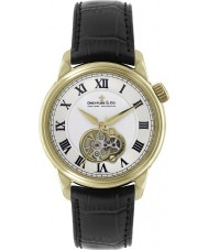 Dreyfuss and Co DGS00092-01 Mens 1925 Gold Black Open Heart Automatic Watch