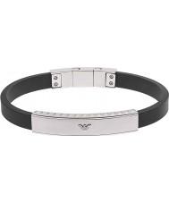 Emporio Armani EGS1882040 Mens Signature Black Silicone Bracelet