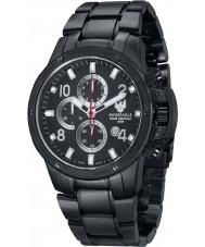Swiss Eagle SE-9074-55 Men Tramelan Solid Marine Grade 316L Black Steel Chronograph Watch