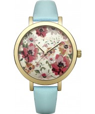 Oasis B1542 Ladies Mint Leather Strap Watch