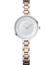 Obaku V183LXCISC Ladies Two Tone Rose Gold Plated Watch