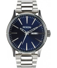 Nixon A356-2258 Mens Sentry SS Blue Sunray Watch