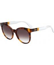 Fendi Pequin FF 0083-S E6Z JS Havana Crystal Sunglasses