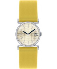 Orla Kiely OK2021 Ladies Cecelia Yellow Leather Strap Watch