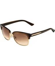 Gucci Ladies GG 4246-S 15T S1 Brown Gold Sunglasses