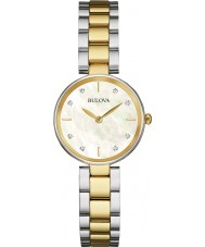 Bulova 98S146 Ladies Diamond Two Tone Steel Bracelet Watch