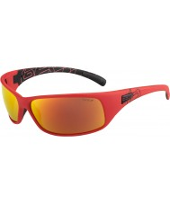 Bolle Recoil Matt Red Polarized TNS Fire Sunglasses