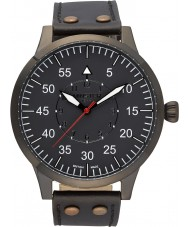 Minster 1949 MN02GRBK10 Mens Bradnor Black Leather Strap Watch