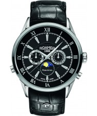 Roamer 508821-41-53-05 Mens Superior Moonphase Black Leather Strap Watch