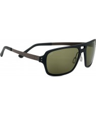 Serengeti Nunzio Satin Black Polarized PhD 555nm Sunglasses