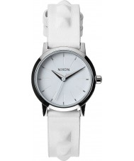 Nixon A398-1811 Ladies Kenzi Leather All White Studded Watch
