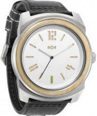 House of Marley WM-FA006-IO Mens Capsule Leather Iron Watch