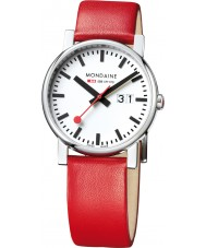 Mondaine A627-30303-11SBC Evo Big Red Leather Strap Watch