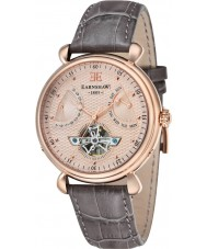 Thomas Earnshaw ES-8046-03 Mens Grand Calender Brown Leather Strap Watch