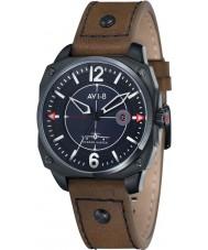 AVI-8 AV-4039-03 Mens Hawker Hunter Dark Brown Leather Strap Watch