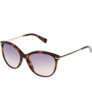 Furla Ladies Stella SU4961-04AP Yellow Havana-Dark Brown Sunglasses