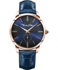 Thomas Sabo WA0212-270-209-42mm Mens Rebel Spirit Blue Leather Strap Watch