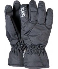 Barts 0628501 Kids Basic Black Ski Gloves - 8 - 10 years