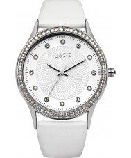 Oasis B1530 Ladies White Leather Strap Watch