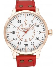 Minster 1949 MN02WHRG10 Mens Bradnor Red Leather Strap Watch