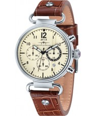 AVI-8 AV-4014-02 Mens Hawker Hurricane Brown Leather Strap Chronograph Watch