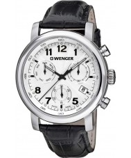 Wenger 01-1043-109 Mens Urban Classic Black Leather Chronograph Watch