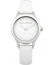 French Connection FC1206W Ladies All White Leather Strap Watch