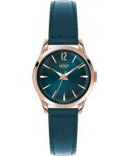 Henry London HL25-S-0128 Ladies Stratford Mallard Green Leather Strap Watch
