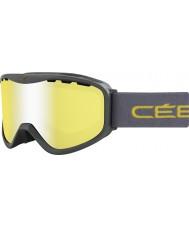 Cebe CBG71 Ridge OTG Green - Yellow Flash Mirror Ski Goggles